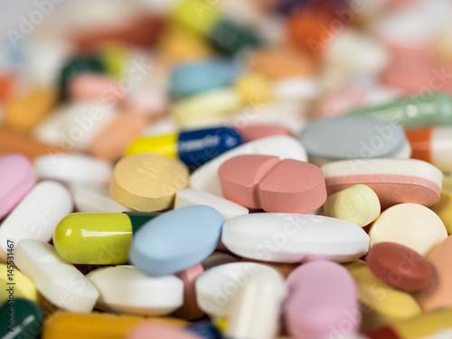 Fotografia  Medikamente - Tabletten - Wirkstoffe - Nebenwirkungen