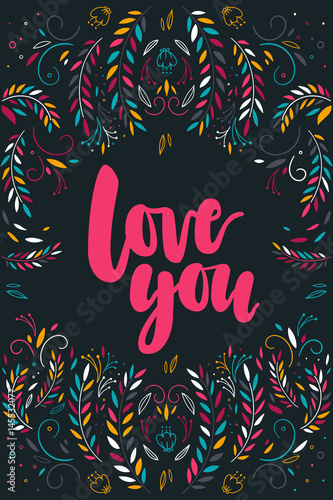 napis-kocham-cie-z-dekoracyjnymi-roslinnymi-elementami