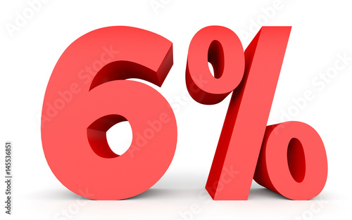 Photographie  Six percent off. Discount 6 %.