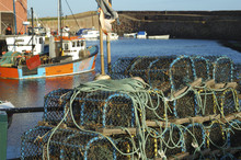 Lobster Pots And Trawlers At D...