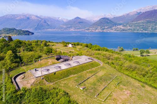Fotografie, Obraz  Colico - Lago di Como (IT) - Forte di Montecchio - Vista aerea