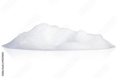 Valokuva  white foam bubbles texture isolated on white background
