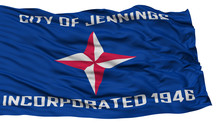 Isolated Jennings City Flag, C...