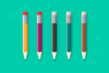 Pencils Vector Set Isolated On...