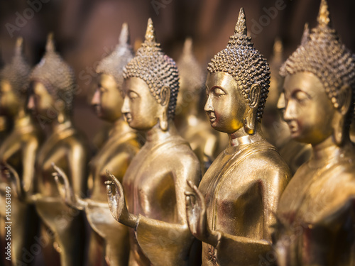 Gold Buddha Statue Religion Antique collection