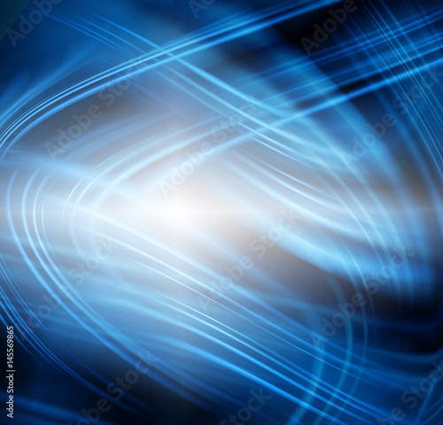 Fotobehang Fractal waves Abstract blue background