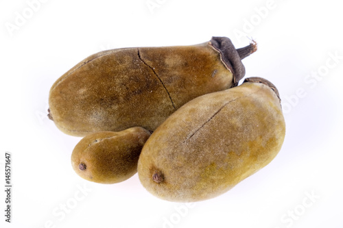 Foto op Plexiglas Baobab Baobab fruit on a white background