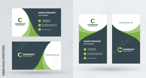 Valokuva  Double-sided creative business card template