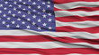 Closeup United States Flag, Waving in the Wind, High Resolution