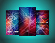 Mobile interface wallpaper design. Set of abstract vector backgrounds. Modern smartphone application interface elements