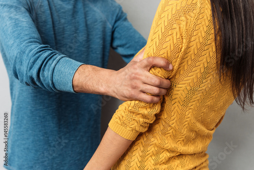 Valokuva  Cropped image of agressive couple