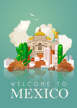 Vector Colorful Card About Mex...