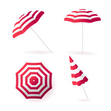 Sun Umbrellas Collection. Isol...
