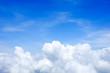 Leinwandbild Motiv Blue sky above the clouds