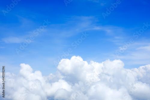 Canvas Prints Heaven Blue sky above the clouds