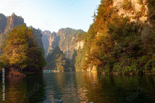 Beautiful mountain lake #145593409