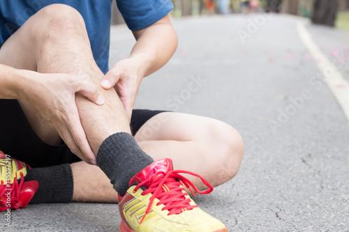 Shin bone injury from running, Splint syndrome Canvas Print