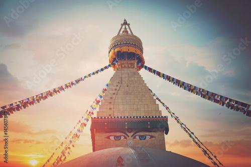 Fotografie, Tablou Bodhnath stupa