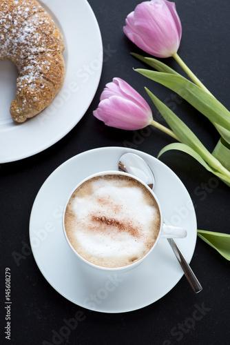 Fototapeta Cappuccino (Kaffeegenuss) obraz na płótnie