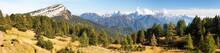 Panoramic View From Dolomites, Italy