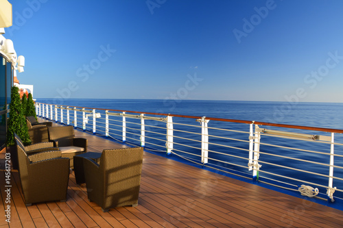 Fotografia  Open deck on cruise ship