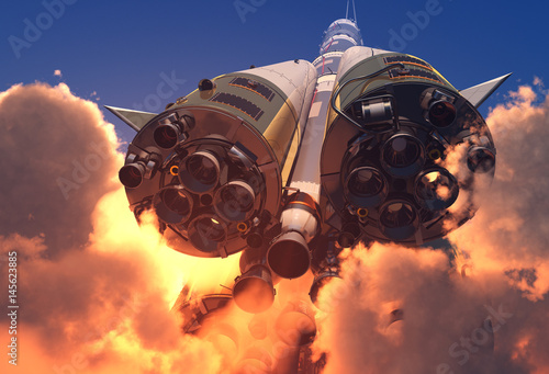 Canvas Prints Nasa The engine of the rocket.