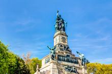 Niederwalddenkmal Im  Landschaftspark Niederwald Oberhalb Der Stadt Rüdesheim Am Rhein