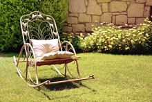 Old Vintage Rocking Chair In T...