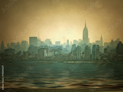 Plakat Port w Nowym Jorku