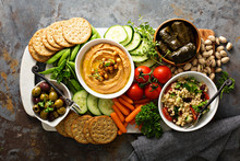 Hummus And Vegetables Platter ...