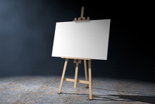 Wooden Artist Easel With White...