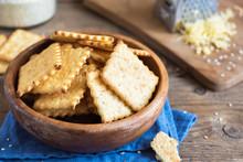 Homemade Thin Cheesy Crackers