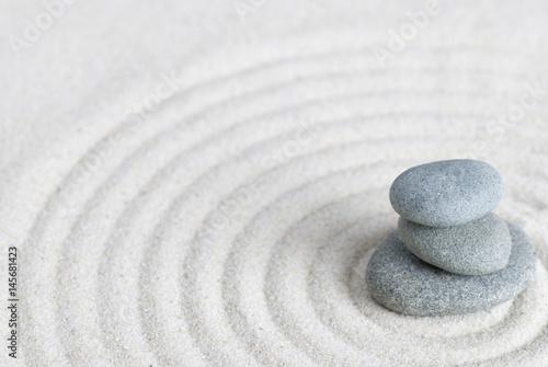 Poster Stenen in het Zand Kieselsteine auf Sand, Zen Style