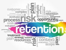 RETENTION Word Cloud Collage, Business Concept