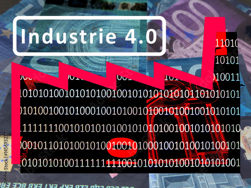 Industry 4 0 Working World Of The Future Symbol A Factory Against