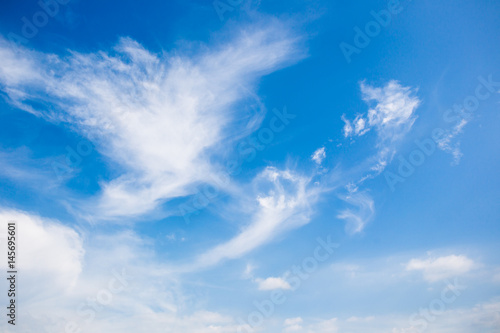 Foto op Canvas Luchtsport Beautiful a group of clouds in the blue sky during the sun shin background.