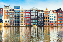 Traditional Houses In Amsterdam, Netherlands