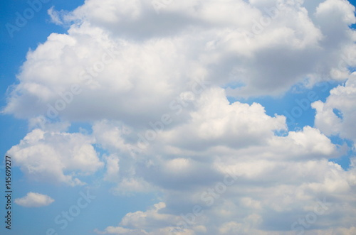 Foto op Canvas UFO Sky and Cloud. On the bright. Background Texture and Pattern