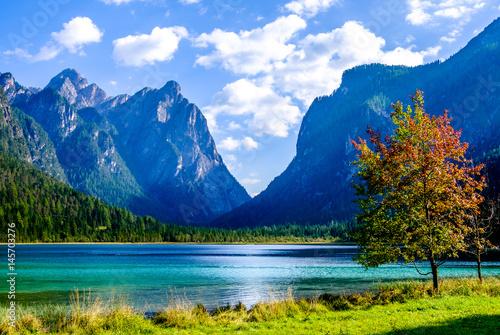 Fotografie, Obraz  Lago di Dobbiaco - toblacher see