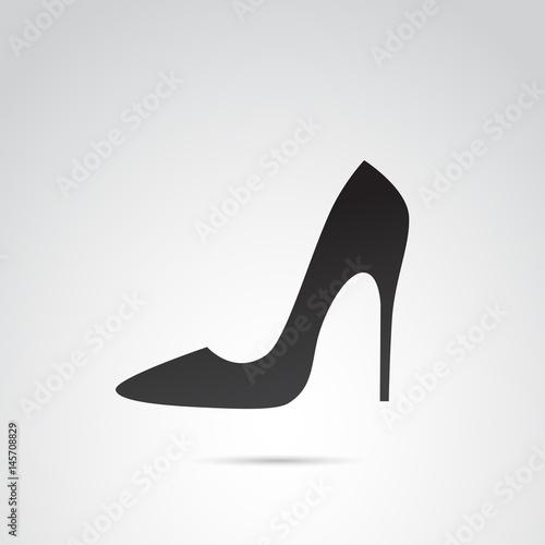 Fototapeta High heels vector icon.