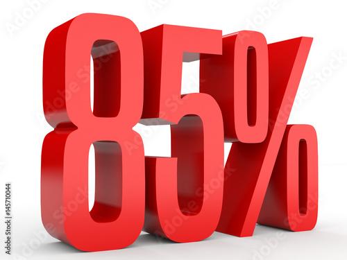 Fotografia  Eighty five percent off. Discount 85 %.