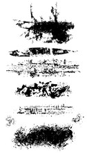 Set Of Grunge Brushes With Scuffs And Scratches. Vector Element For Your Design