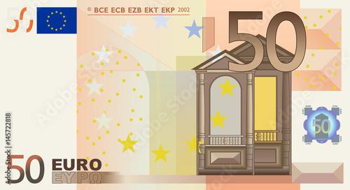 Fotografía 50 Euro vector