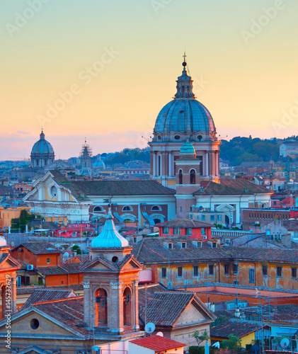 Rome colorful Old Town, Italy