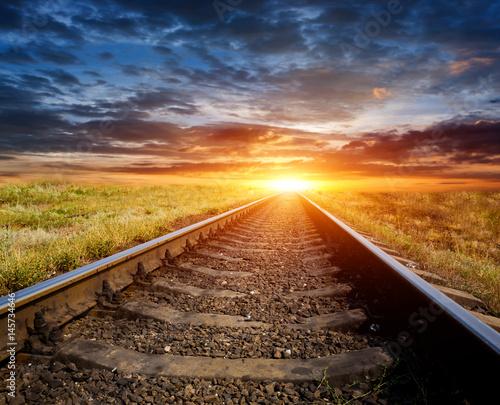 sunset scene over railway