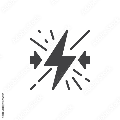 Fotografía  Conflict icon vector, filled flat sign, solid pictogram isolated on white