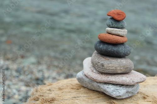 Poster Zen pierres a sable Corse