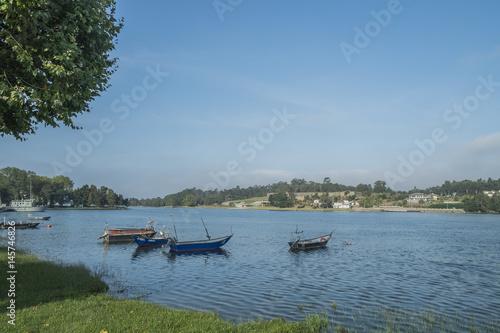 Fotografie, Obraz  Boats on the river minho