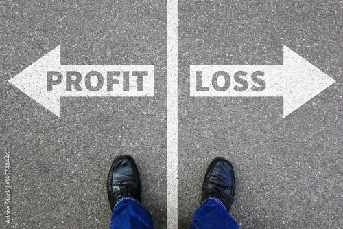 Loss and profit finances financial success company businessman business concept Fototapeta