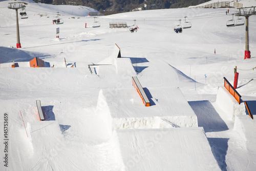 Fotografie, Obraz  Snow park in ski resort